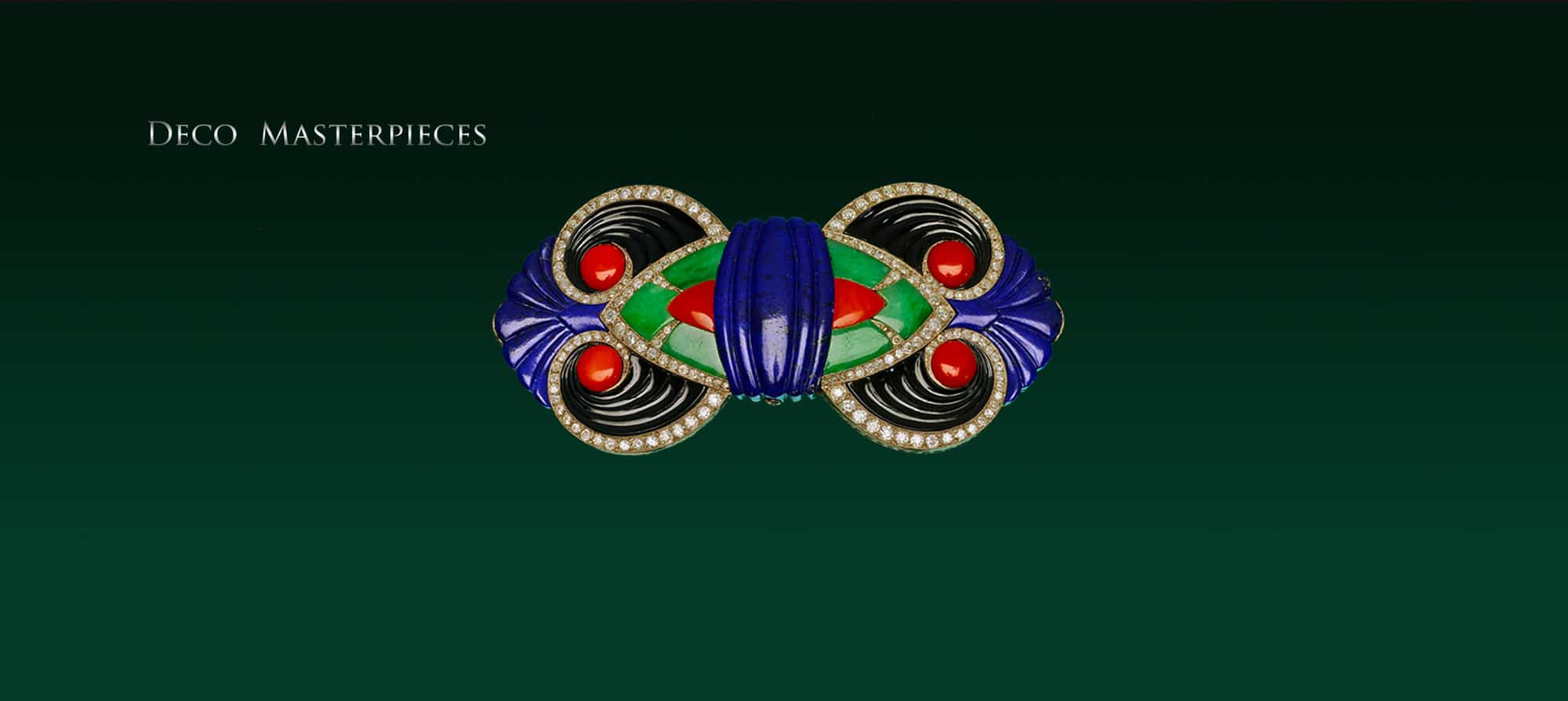 Art Deco Brooch by Boucheron, designed by Lucien Hertz for the Exhibition des Arts Decoratifs, Paris 1925